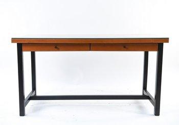 Vintage Italian Promemoria Leather Desk