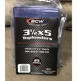 """BCW BCW Toploader, 3.5 X 5"""" (25 pk)"""