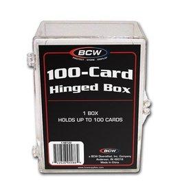 BCW 100-CARD HINGED BOX - Acrylic