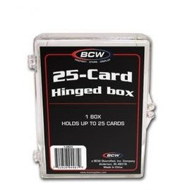BCW 25-CARD HINGED BOX - Acrylic