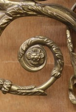 Pair of Blackamoor Italian brass wall sconces, with cherubs playing double flutes