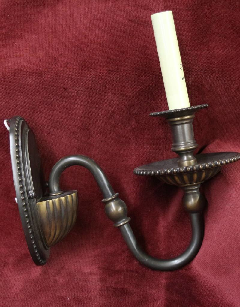 Single arm oil-rubbed bronze wall sconce, new