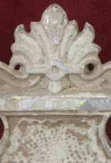 Antique spelter wall sconce, 1 Light, Fleur de Lis, painted