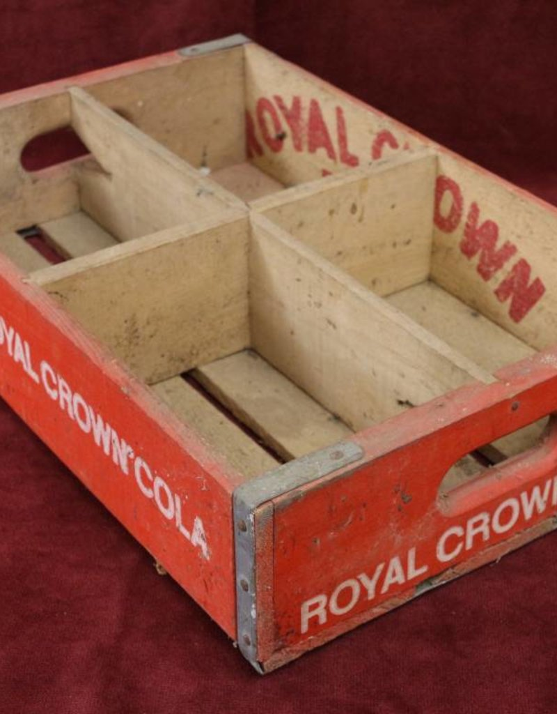 Royal Crown Cola Vintage Wooden Crate, Dallas, 1978