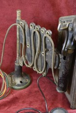 Telephone, Western Electric, Antique Railroad Scissor Style Candlestick and Ringer Box