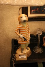 Dog lamp, Jockey, Ceramic