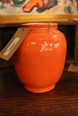 Bright orange vase