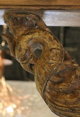 Pair of Bracket, Corbel, Carved Wood, Peacock