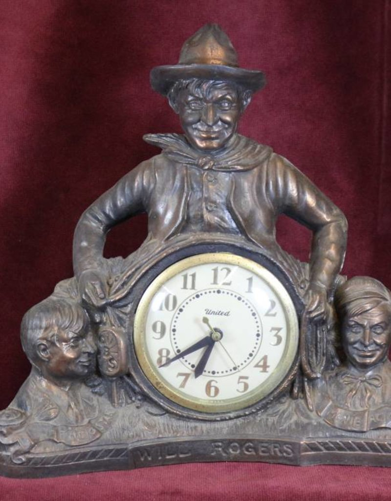 Vintage Will Rogers Mantle Clock