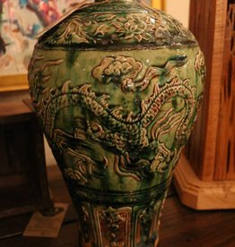 Antique oriental wine vase