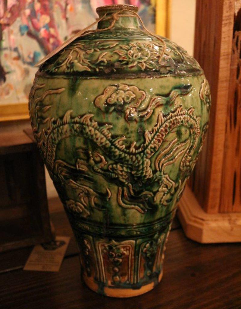 Antique oriental wine vase