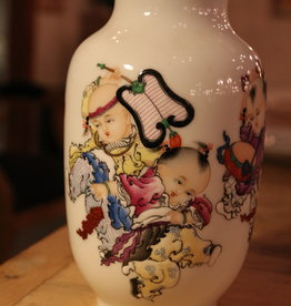 Japanese porcelain china vase with figures