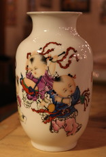 Japanese porcelain china vase with figures
