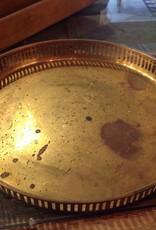 Tray, brass, vintage, round