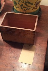 Box, wooden, small