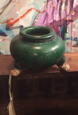 Incense Burner, small, green, ceramic