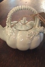 Teapot, ceramic, Pumpkin design