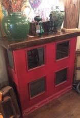 Bar, vintage, wooden, red