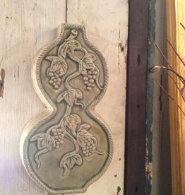Wall decor, pair of ceramic wall hanging grape design