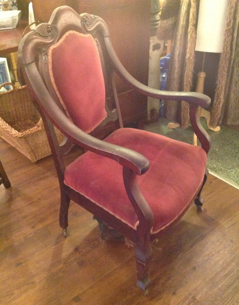 Chair, antique, carved, 1930s