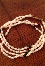 Necklace, vintage, fresh water pearl
