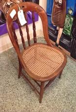Chair, wooden, wicker seat