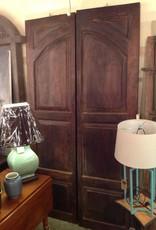 Door, double, wood, vintage