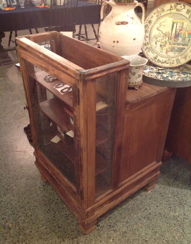 Display case, wooden, antique