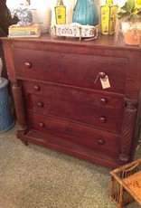 Chest of Drawers, dark brown, wooden, vintage, four drawers