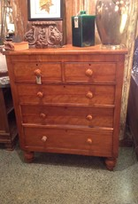 Chest of Drawers, light brown, wooden, vintage, five drawers