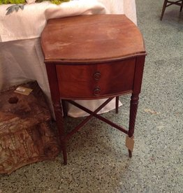 Table, side, two drawers, vintage