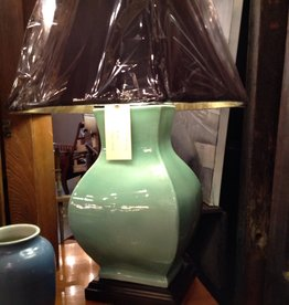 Lamp, ceramic vase, green