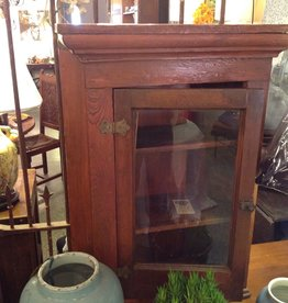 Cabinet, wooden, antique, corner, small