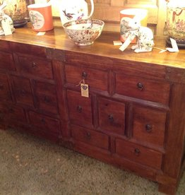 Cabinet, Vendors, vintage, wooden, fourteen drawer