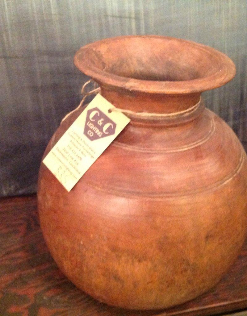 Vase, wooden, turned