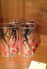 Glass Set, Dancing Girls, Set of 4