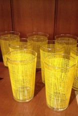 Glass Set, yellow, Set of 9