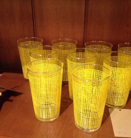 Glass Set, yellow, Set of 9