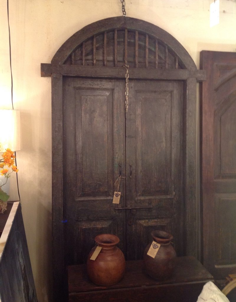 Door, antique, wood, arched, double