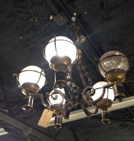 Chandelier, vintage, black, five light