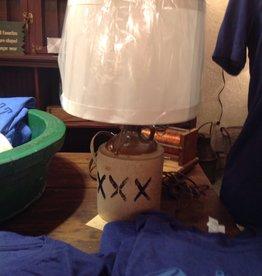 Lamp, table, ceramic, whiskey jug, vintage, made by Derek