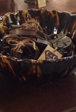Bowl, large, glass, dark brown
