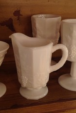 Pitcher, milk glass, Westmoreland, grape motif, small