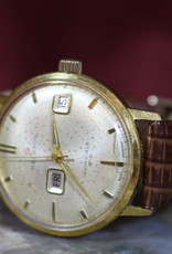 Watch, Helbros, Vintage, Manual, Gold, Plated, Day, Date, Serviced, New Band