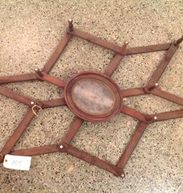 Rack, Hat, walnut, country style, oval mirror with pegs