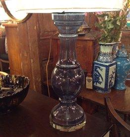 Translucent Blue Glass Tale Lamp