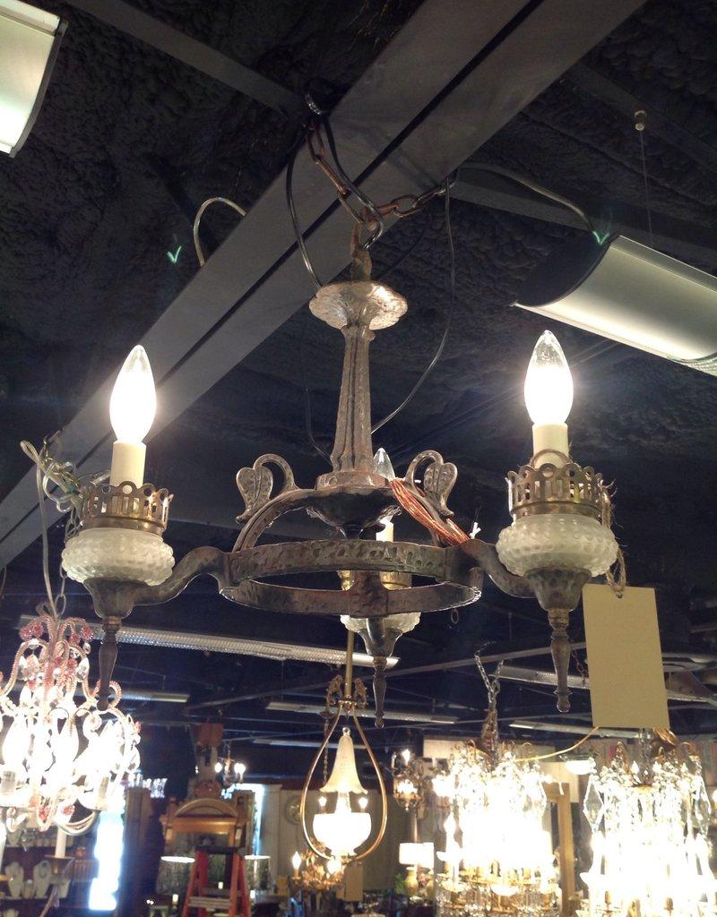 Chandelier, three light, small