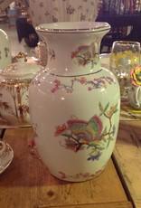 Vase, Porcelain, white, butterflies, oriental