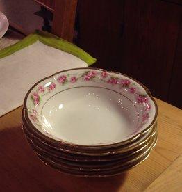 Dessert Bowls, porcelain, roses