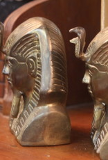 Pair of Bookends, King Tut, Brass, Vintage